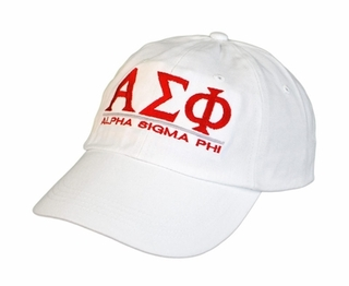 Alpha Sigma Phi World Famous Line Hat - MADE FAST!