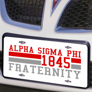 Alpha Sigma Phi Year License Plate Cover