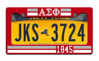 Alpha Sigma Phi Year License Plate Frame