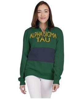 Alpha Sigma Tau 1/4 Zip Over Zipper Quad Pullover