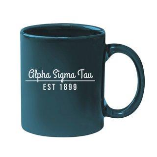 Alpha Sigma Tau 11 oz. Colored Stoneware Mug