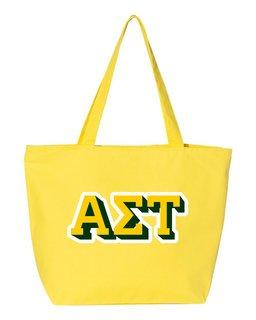 Alpha Sigma Tau 3D Letter Tote Bag