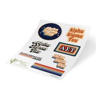 Alpha Sigma Tau 70's Sticker Sheet