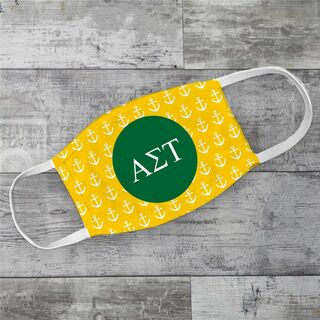 Alpha Sigma Tau Anchors Face Mask