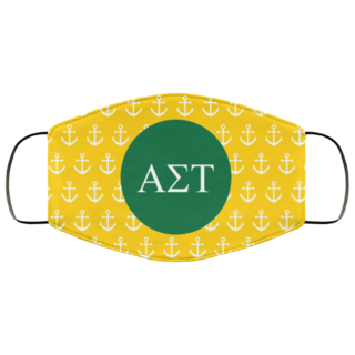 Alpha Sigma Tau Anchors Face Mask