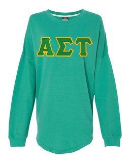 DISCOUNT-Alpha Sigma Tau Athena French Terry Dolman Sleeve Sweatshirt