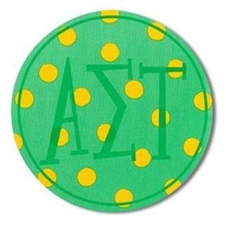 """Alpha Sigma Tau Bumper Stickers 4"""" Round"""
