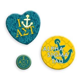Alpha Sigma Tau Button Set