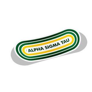 Alpha Sigma Tau Capsule Decal Sticker