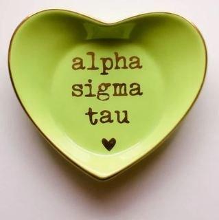 Alpha Sigma Tau Ceramic Ring Dish