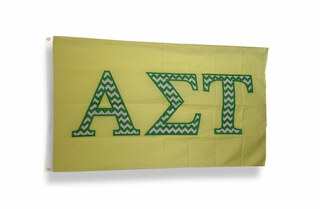 Alpha Sigma Tau Chevron Flag
