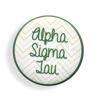 Alpha Sigma Tau Chevron Script Button
