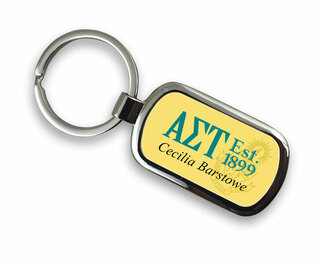 Alpha Sigma Tau Chrome Crest - Shield Key Chain