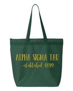 Alpha Sigma Tau New Established Tote Bag