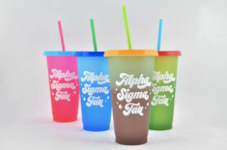 Alpha Sigma Tau Color Changing Cups (Set of 4)