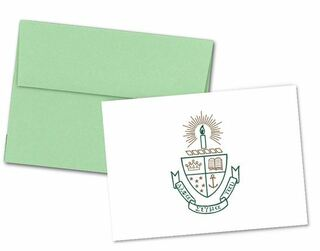 Alpha Sigma Tau Color Crest - Shield Notecards(6)