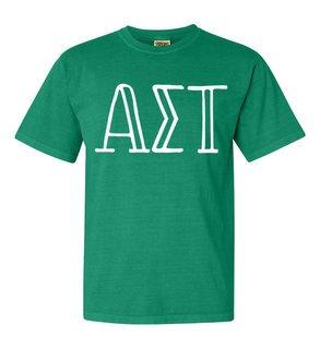 Alpha Sigma Tau Comfort Colors Heavyweight Design T-Shirt
