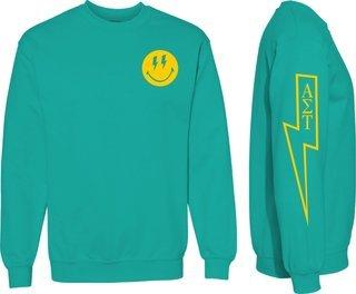 Alpha Sigma Tau Comfort Colors Lightning Crew Sweatshirt