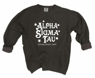 Alpha Sigma Tau Comfort Colors Old School Custom Crew