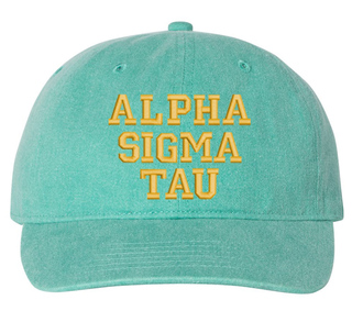 Alpha Sigma Tau Comfort Colors Pigment Dyed Baseball Cap