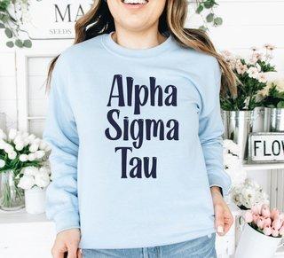 Alpha Sigma Tau Comfort Colors Rosie Crew