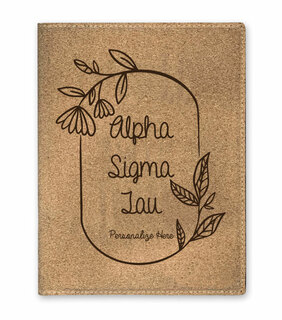 Alpha Sigma Tau Cork Portfolio with Notepad