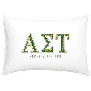 Alpha Sigma Tau Cotton Knit Pillowcase