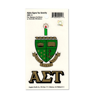 Alpha Sigma Tau Crest - Shield Decals