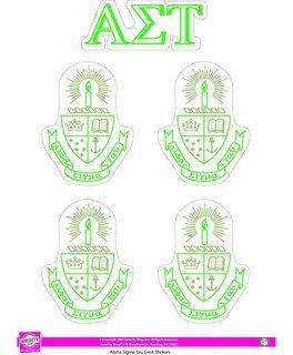 Alpha Sigma Tau Crest Sticker Sheet