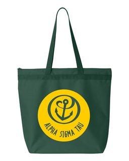 Alpha Sigma Tau Circle Mascot Tote bag