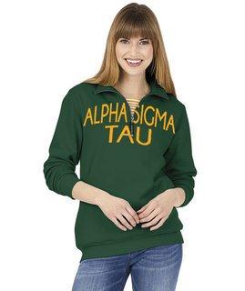 Alpha Sigma Tau Crosswind Over Zipper Quarter Zipper Sweatshirt