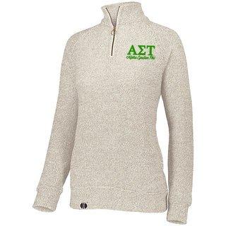 Alpha Sigma Tau Cuddly 1/4 Zip Pullover