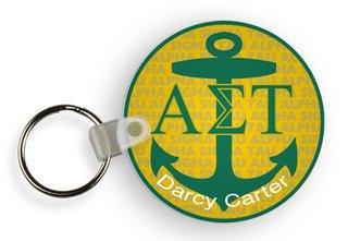Alpha Sigma Tau Custom Mascot Keychains