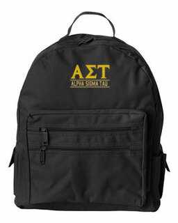 Alpha Sigma Tau Custom Text Backpack