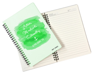 Alpha Sigma Tau Custom Watercolor Notebooks