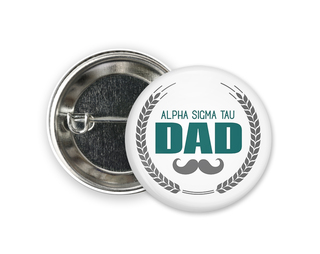 Alpha Sigma Tau Dadstache Button
