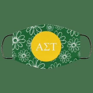 Alpha Sigma Tau Daisies Face Mask