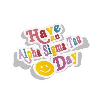 Alpha Sigma Tau Day Decal Sticker