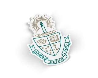 Alpha Sigma Tau Die Cut Crest Sticker