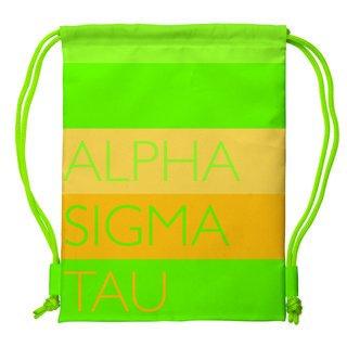 Alpha Sigma Tau Drawstring Backpack