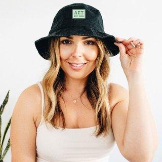 Alpha Sigma Tau Est. Box Bucket Hat