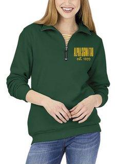 Alpha Sigma Tau Established Crosswind Quarter Zip Sweatshirt