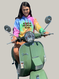 Alpha Sigma Tau Eternity Tie-Dyed Pullover Hood