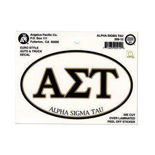 Alpha Sigma Tau Euro Style Sticker