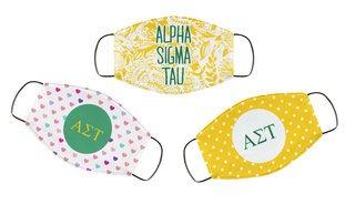 Alpha Sigma Tau Face Mask Trio Set