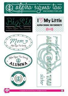 Alpha Sigma Tau Family Sticker Sheet