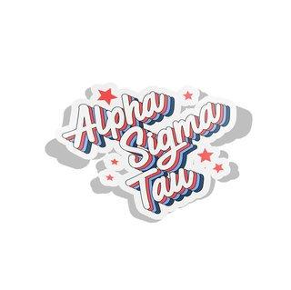 Alpha Sigma Tau Flashback Decal Sticker