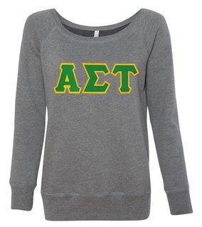 Alpha Sigma Tau Fleece Wideneck Sweatshirt