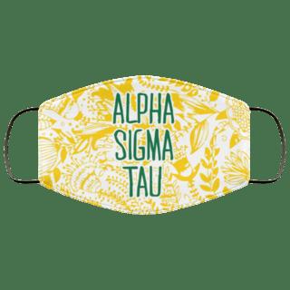 Alpha Sigma Tau Floral Face Mask