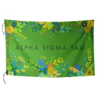Alpha Sigma Tau Floral Flag